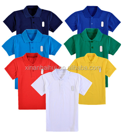 100% cotton pur color boys T shirt Kids polo shirts shirts for 7 colors
