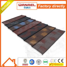 Corrugated roofing sheet Wanael Shingle colorful stone-coated metal roof tile, Color Steel Roof Tile