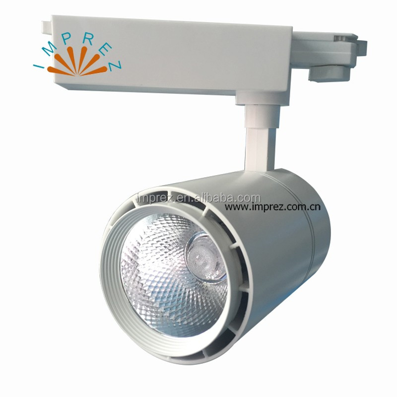 LED Track Light 30W 40W 4 wire LED track spot light commercial lighting CE ROHS approval 3years warranty