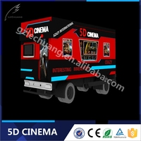 Mobile 8d Cinema 6Dof 5D/7D/8D Cinema Simulator With Gun shooting For sal Exciting Truck Cinema Snow/Bubble Simulation Xd Dark