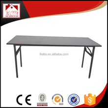 Factory price wood foldable banquet table rectangular