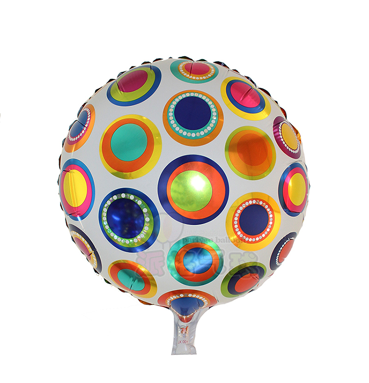 18inch colorful polka dot custom shape mylar balloon