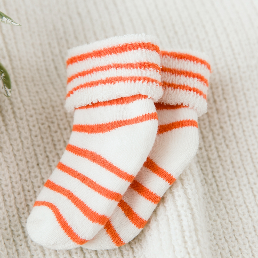 Custom usa market jacquard organic cotton baby sleeping tube socks
