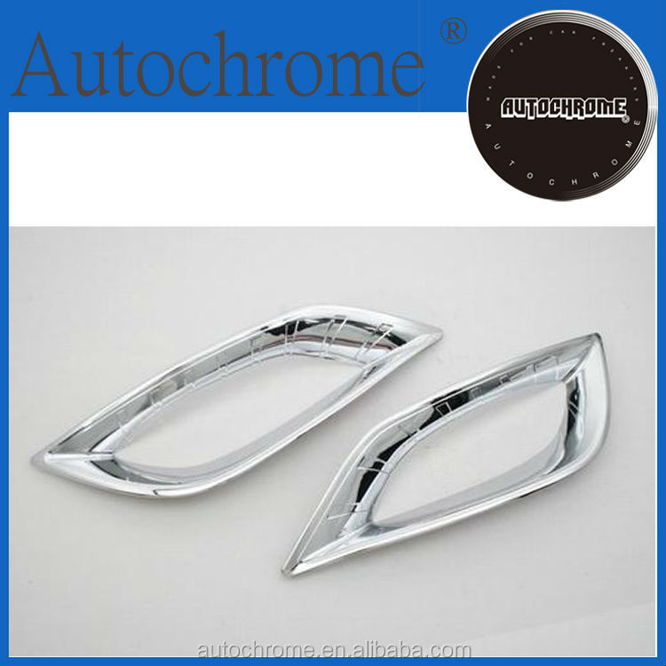Factory price car auto exterior accessories car parts chrome front fog trim for Hyundai Sonata i45