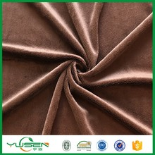 knit polyester velvet fabric,super soft fleece/velboa fabric