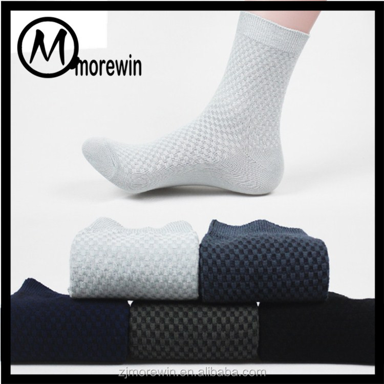 Morewin Factory Wholesale Antibacterial Bamboo Sock Fashion Business Man Sock Manufacturer