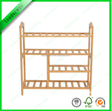 OEM orders service bamboo models shoe rack wood for shoe organization