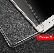 For iPhone X Case Transparent Crystal Clear Case Soft TPU Cover Skin