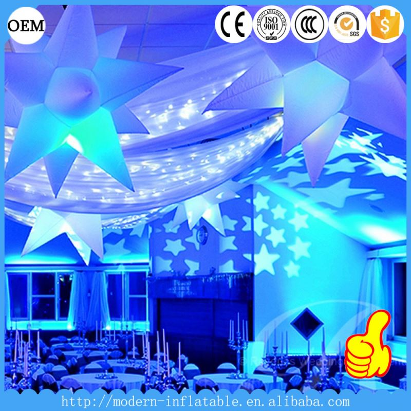 event decoration lighted inflatable star