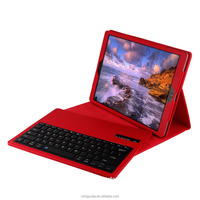 Protective case with stand detachable spanish language bluetooth keyboard for apple ipad pro