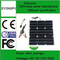 pv solar panel 70w flexible solar cell for RV/caravans/golf cars/boats