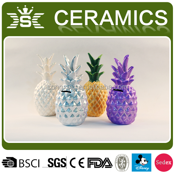 ceramic decoration interior pineapple shaped gifts crafts