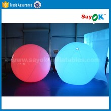 led throw ball inflatable throw balloon zygote interactive balls for concert
