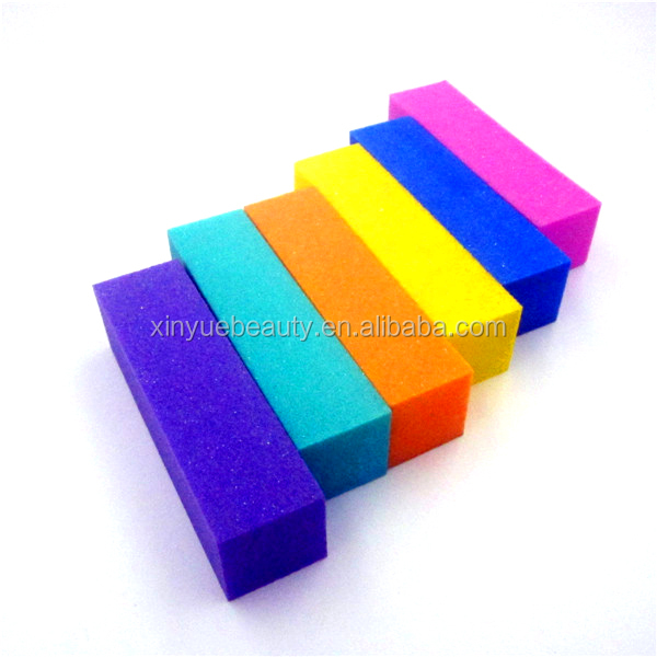 High quality Colorful mini sanding block sponge nail buffer for nail polish