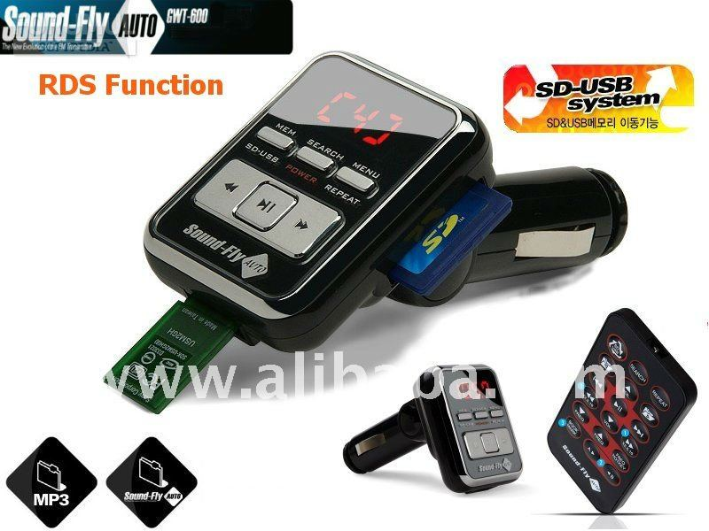 FM Transmitter with RDS and Shuflle, SOUND FLY AUTO