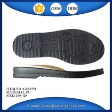 sole type lady causal shoes sole pu outsole and fabric insole