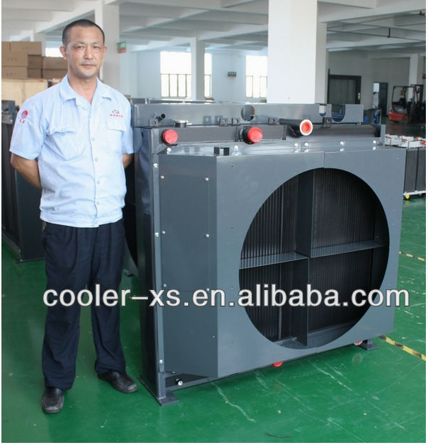 side by side combicooler ,compressor cooler with shroud,aftercooler with fan