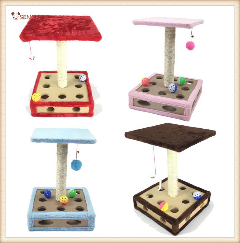 9 Holes Whoelsale Cat toys Corrugated Cardboard Cat Scratcher