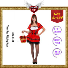 New Arrival Teen Red Ridding Hood Carnaval Costumes for Teens