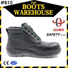 black dual-density PU action safety shoes