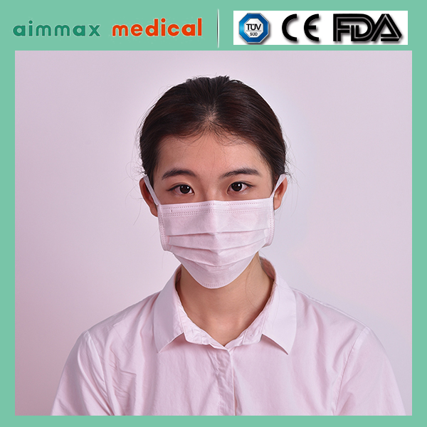 Wuhan Aimmax earloop face mask,non-woven high quality medical face mask/2/3/4 ply 18+20+25 for choose