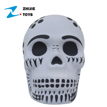 Halloween Cheap Scary PU Slow Rising Squishy Skull Toy