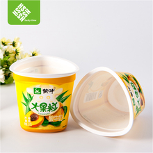 Eco- friendly Degradable Plastic Container Custom Made for Yogurt
