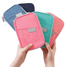 RFID Blocking Multi-function Passport bag Credit Debit Card Travel Document Organizer Wallet Case
