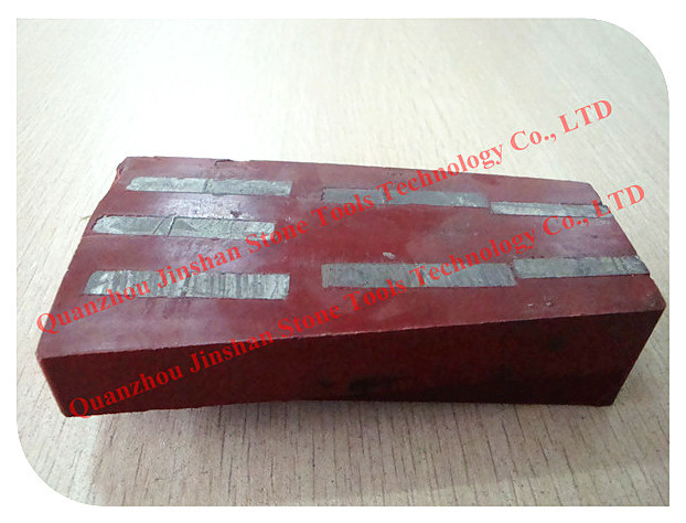 JS Fan-shape Granite Abrasive , Diamond Grinding block for Granite slabs processing