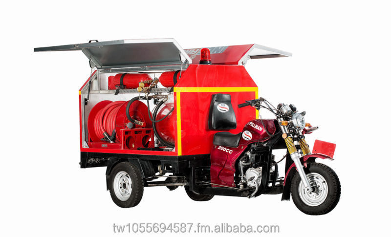 Fire Fighting Motor Tricycle Multi-purpose Motor Tricycle Innovative Motor Tricycle Customization Tricycle 200C.C. MotorTricycle