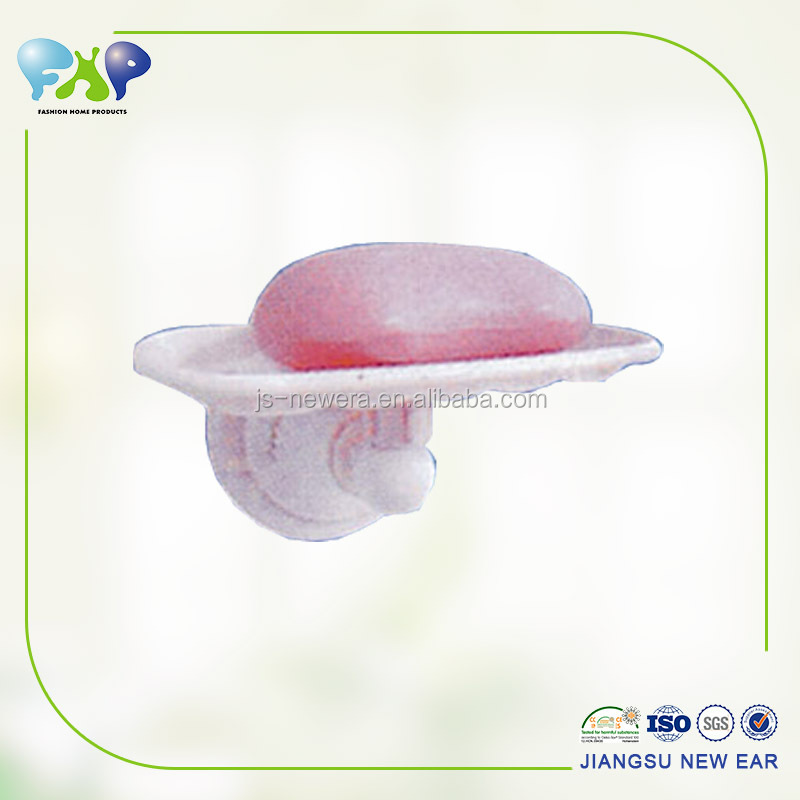 Bathroom waterproof plastic paper roll holder with soap box suction cup,plastic paper holder