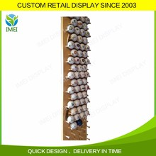 Customized wooden save space wall hanging golf ball display rack