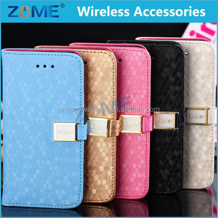 Low Price China New Product OEM Smart Phone Diamond Design Leather Travel Case For iPhone 5C