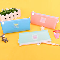 Languo New colorful school pencil case for girl PU leather pencil case for wholesale