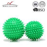 green hand massage ball in different sizes