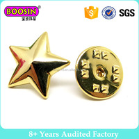 Gold Star Metal Pin Badge Lapel Badge Factory Wholesale #5931