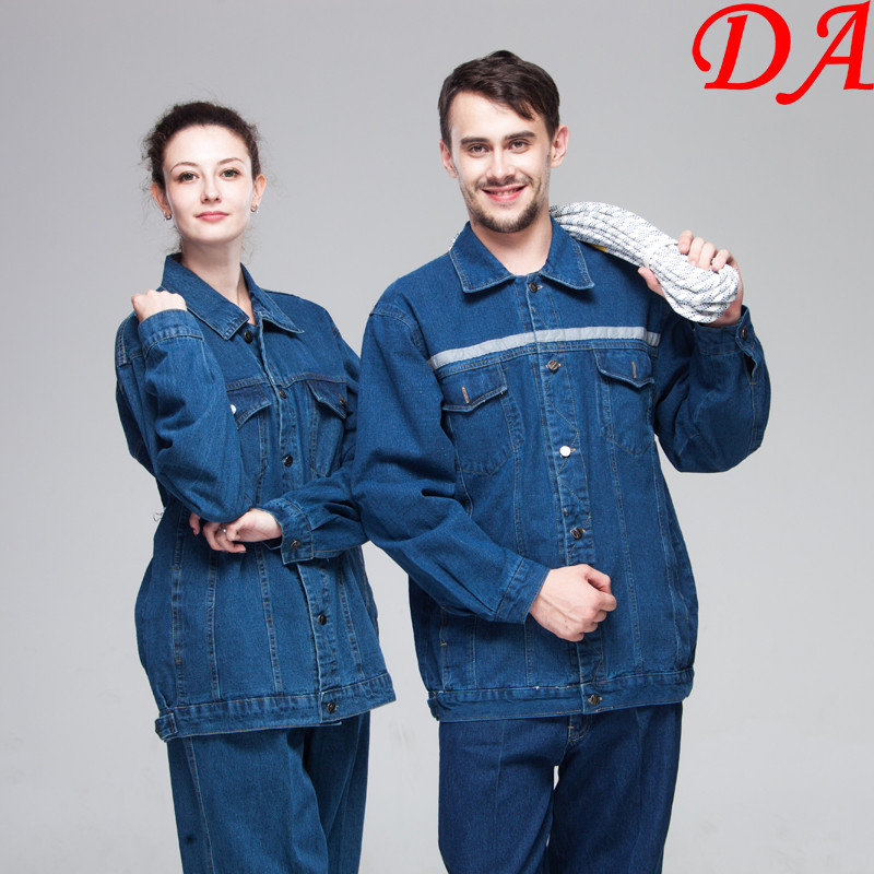 Wholesale Hi Vis Working Denim Jacket Engineer Uniform