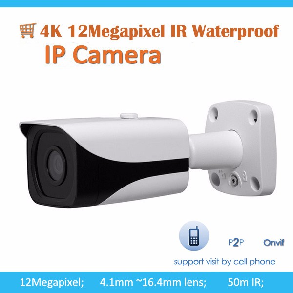 12Megapixel progressive scan CMOS 4K IP IR Waterproof Camera
