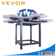6 color 6 station manual t-shirt screen printing machine