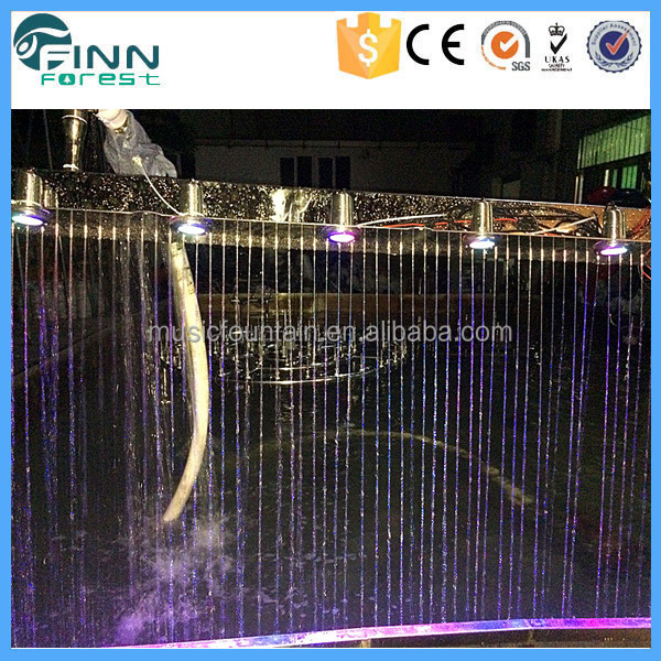 Hotel Decorative Water Curtain Indoor Artificial Wall Waterfall Fountain
