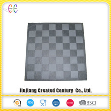 Natural slate stone chess board with chessman