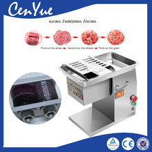 250kg/h commercial electric fresh meat slicer machine, CE beef meat slicer dicer