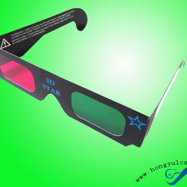 Promotional Paper Red Cyan 3D Glasses for 3d Theater