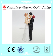 custom White the bride and groom figurines souvenirs for wedding decoration