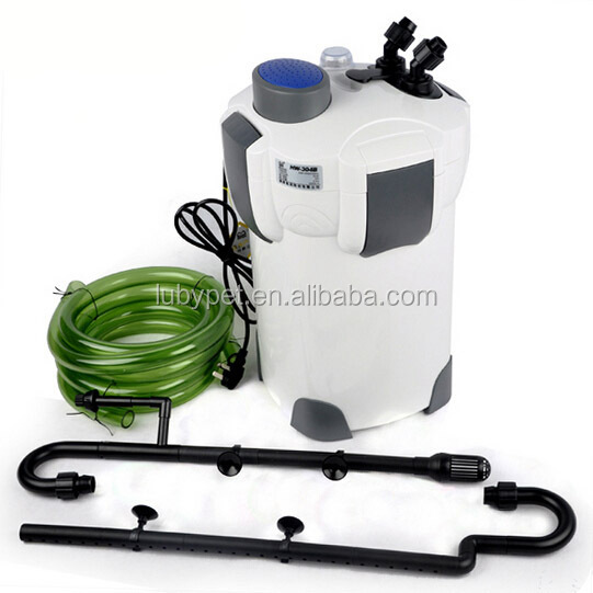 super aquatic 35W 1200L/H Aquarium External uv canister Filter HW-303B with Filter Media