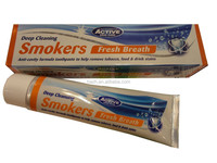 Deep cleaning smokers whitening toothpaste fresh breath anti-cavity formula toothpaste to help remove tobacco,food &drink stains