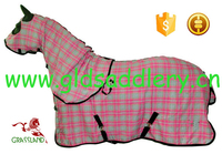 100% cotton canvas printted horse rug with neck