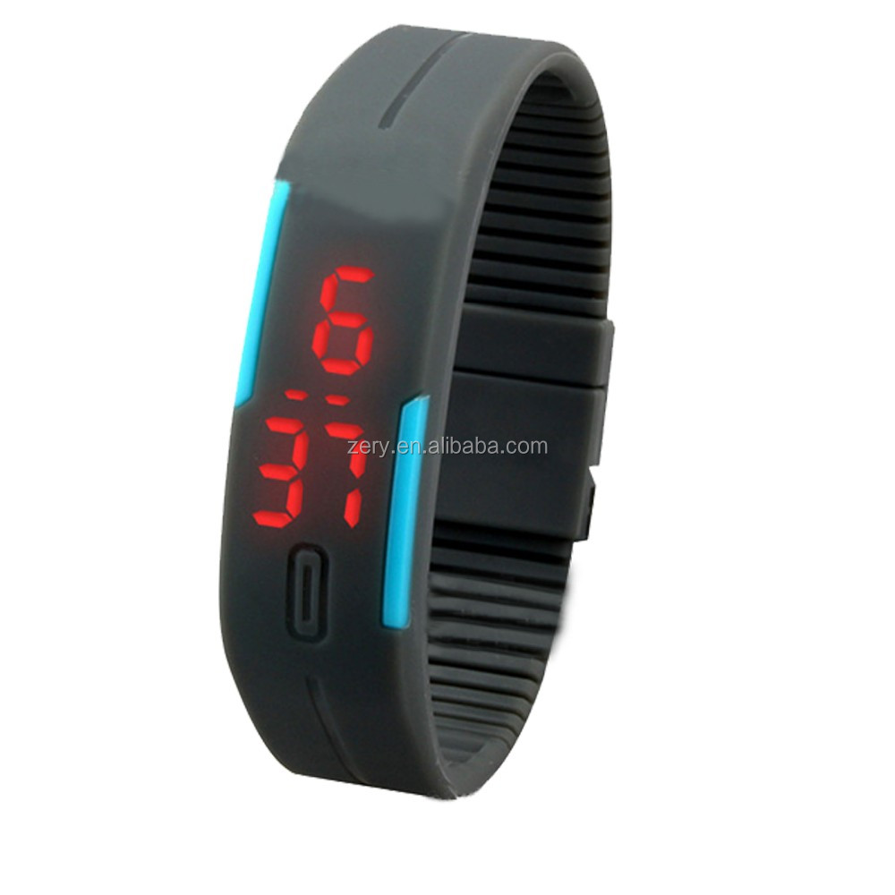 R0775 Once touch one light digital watch, colorful sports watch led watch