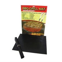 BBQ Grill Mats - Best Barbecue Tool on the Market - Great Gift for Fathers Day- Make Grilling Easier - Grill without a Spill