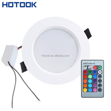 best price round panel 10w rgb recessed led downlight housing with remote